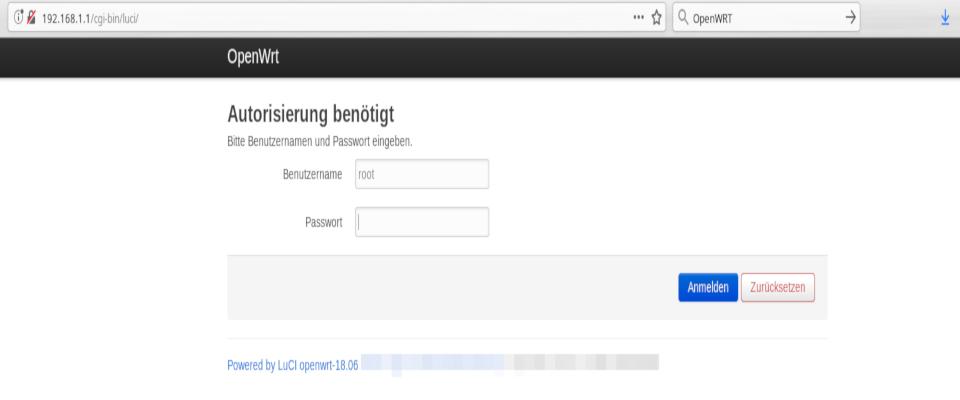 OpenWrt auf Deutsch