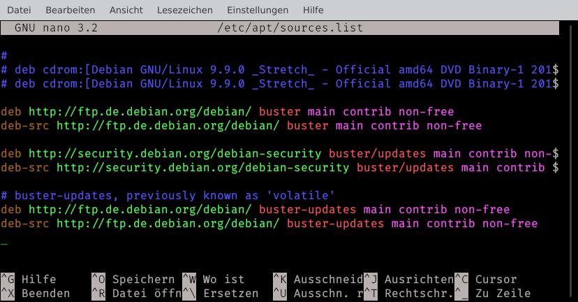 Debian Update von Buster auf Bullseye